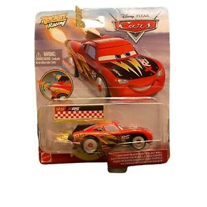 CARS Disney Pixar Diecast XRS Rocket Racing Lightning McQueen with Blast Wall