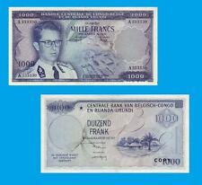 Belgian Congo 1000 Francs Kinshasa 15.8.1958. UNC - Reproduction
