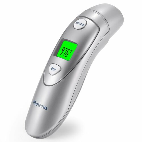 Metene Medical Forehead and Ear Thermometer,Infrared Digital Thermometer