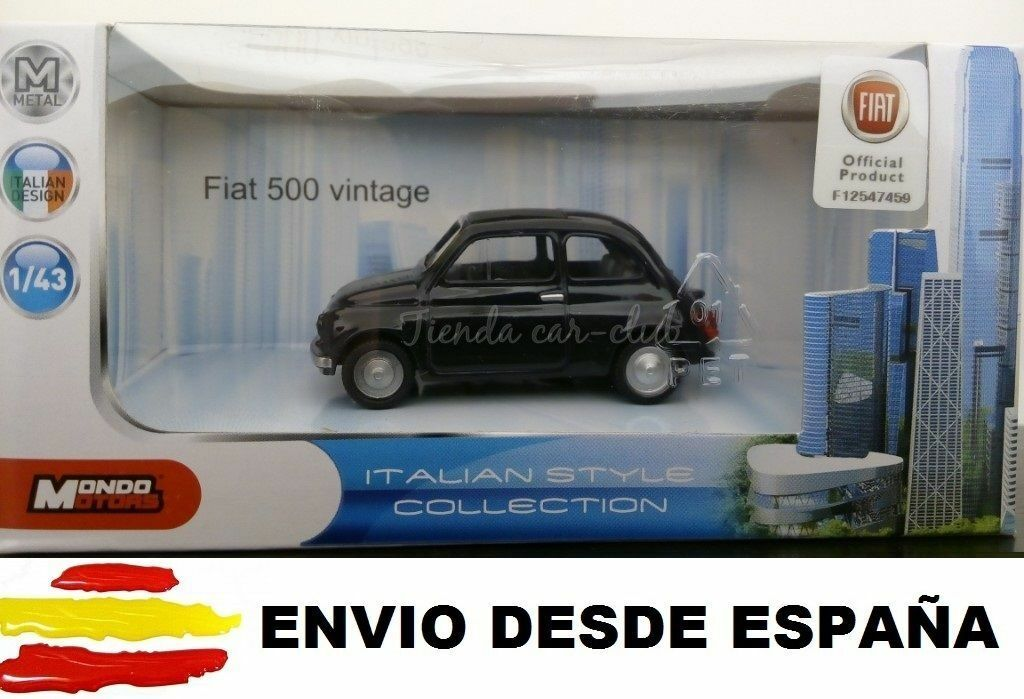 FIAT 500 CLASICO COCHE DE COLECCIÓN A ESCALA 1:43 LICENCIA FIAT