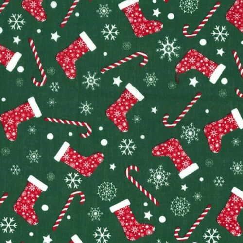 Polycotton Fabric Classic Style Christmas Xmas Festive