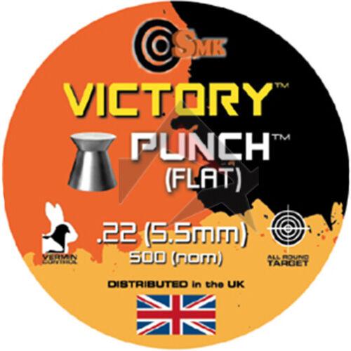 VICTORY Punch Pellets tête plate Airgun Pellets SMK Tin 500 calibre .22 5.5 mm