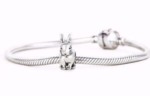 Bunny-Rabbit-Charm-SILVER-Jewellery-Animal-Charm-for-European-Bracelet