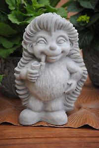 Steinfigur Igel Gartenfigur Gartendeko Dekofigur Skulptur Betonfigur Geschenk