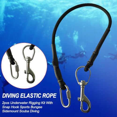 2pc Durable Scuba Diving Tank Bottle Sidemount Carry Strap Rigging Kit Equipment