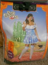 The Wizard of Oz Sexy Dorothy Halloween Costume Cosplay Size Large 12-14