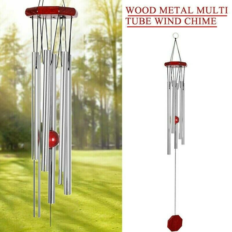 Wind Chimes Large Deep Tone Metal Outdoor Home Garden Patio/Porch Decor UK STOCK