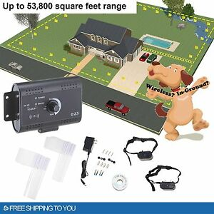 Electric-Dog-Fence-System-for-2-Dogs-Water-Resistant-Shock-Collars
