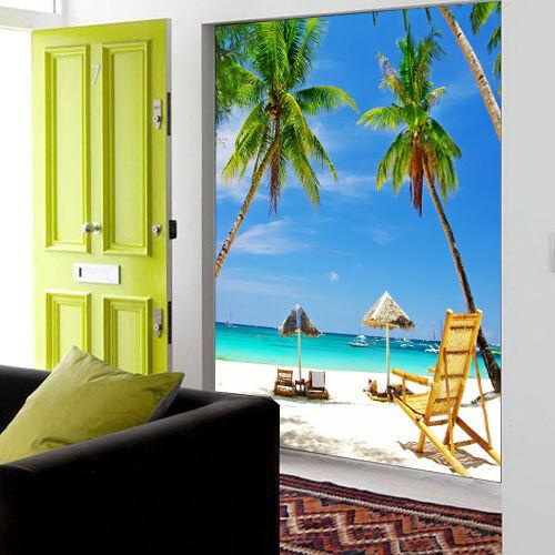3D bella spiaggia Parete Murale Foto Carta da parati immagine sfondo muro stampa