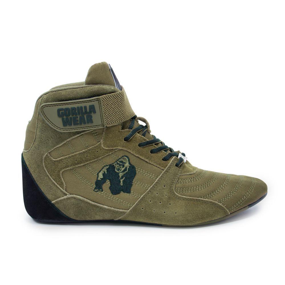 Gorilla Wear Perry High Tops pro Army verde musculación y zapatos Fitness