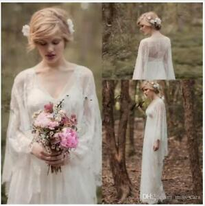 Vintage-Fairy-Lace-Beach-Wedding-Dresses-Long-Sleeve-V-neck-Boho-Bridal-Gown