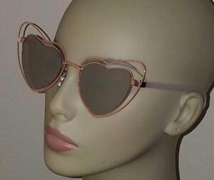 31ab81cdba New fantas-eyes 1989 Double Heart-shaped Metal Rim Sunglasses 100 ...