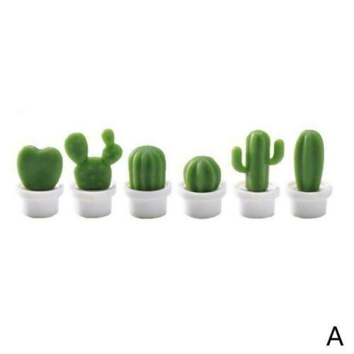6PCs//Set Mini Cute Cactus Fridge Magnets Refrigerator Magnet NEW A2A0