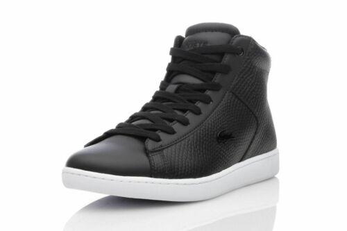 Lacoste CARNABY EVO MID 317 2 SPW Damen Sneaker Schuhe Mid-Top Echtleder schwarz