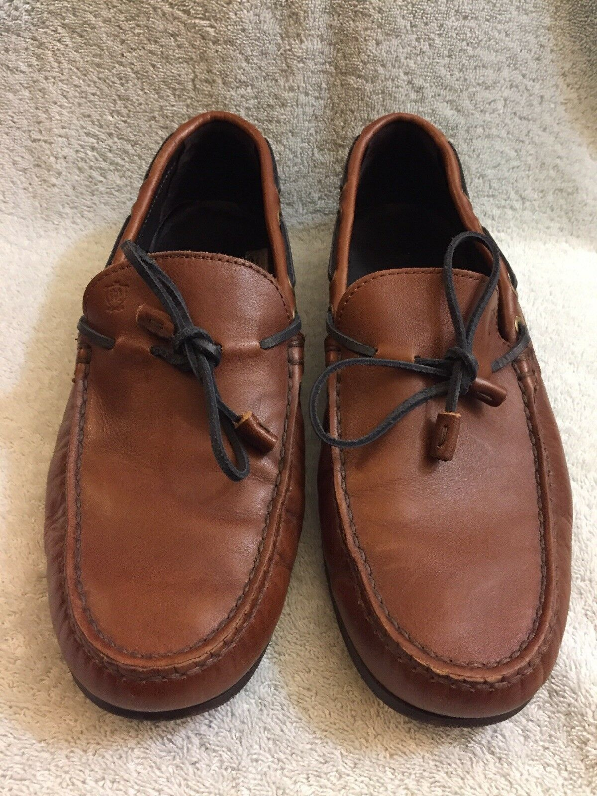 Massimo Dutti Men's Loafers BROWN Laether  Size Eu 42 Us 8.5