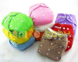 Infant-Reusable-Washable-Baby-Cloth-Diapers-Nappy-Cover-Adjustable-Insert-Lot