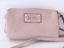 JESSICA SIMPSON Blush Tan cross body zipper multi pocket purse bag tote