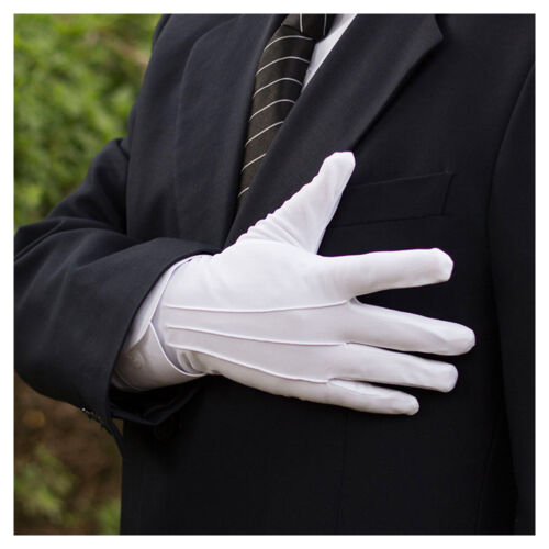 1 Pair Mens Womens Formal Gloves Tuxedo Honor Guard Parade Santa Inspection New