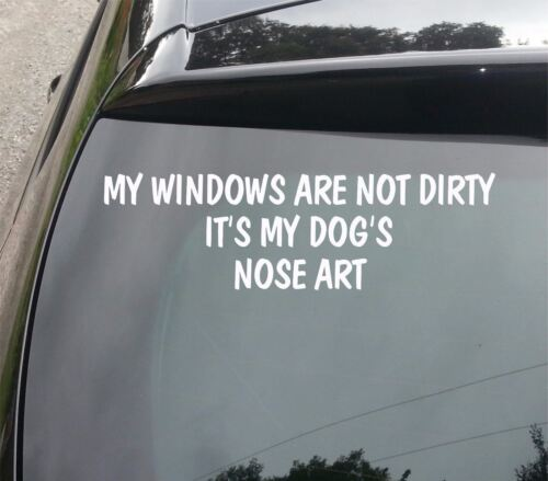 LARGE MY WINDOWS ARE NOT DIRTY IT/'S MY DOG/'S DECAL Funny Car//Van//Window Sticker