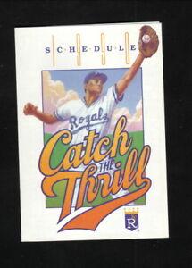 Vintage Kansas City Royals 1990 Pocket Schedule