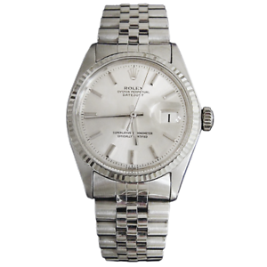 Rolex-Datejust-Mens-SS-Stainless-Steel-amp-18K-White-Gold-Jubilee-Silver-Dial-1601