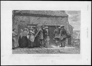 1893-FINE-ART-Antique-Print-Messenger-Arthur-Marsh-Old-Water-Colour-312