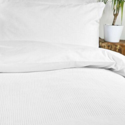 Summer Couverture Design Classique 100/% coton Blanc Thermal Cellulaire Couverture