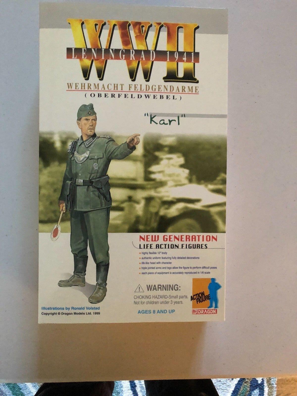 Dragon WWII 1 6 Wehrmacht Geldgendarme Oberfeldwebel  Karl   Leningard 1941  Senza tasse