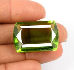 34.75 Ct Olive Green Peridot Brazilian Gemstone Fancy Cut IGL Certified 67887