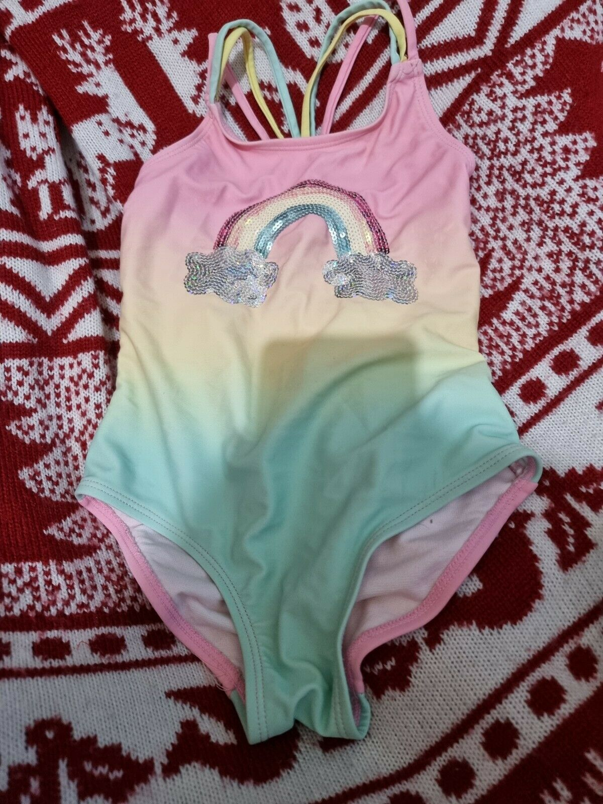 *Lovely Girls f&f Swimming Costume Age 4-5 Years*🙂