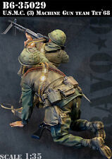 1/35 Scale Resin Figure kit ~ U.S.M.C. (3) Machine Gun Team, Tet'68