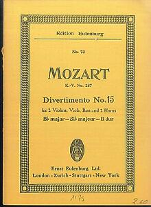 Mozart-Divertimento-No-15-B-dur-K-V-287-Taschenpartitur