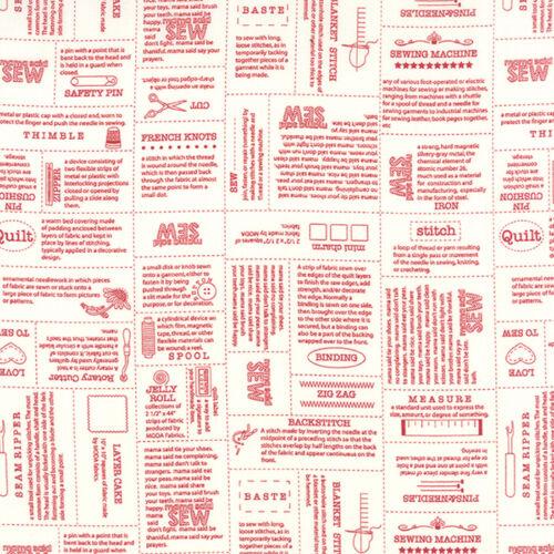 MODA Fabric ~ MAMA SAID SEW VOLUME II ~ Sweetwater by 1//2 yard Red 5610 11