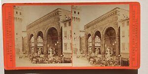 Firenze-Florence-Italia-Stereo-Brogi-Vintage-Albumina-Ca-1875