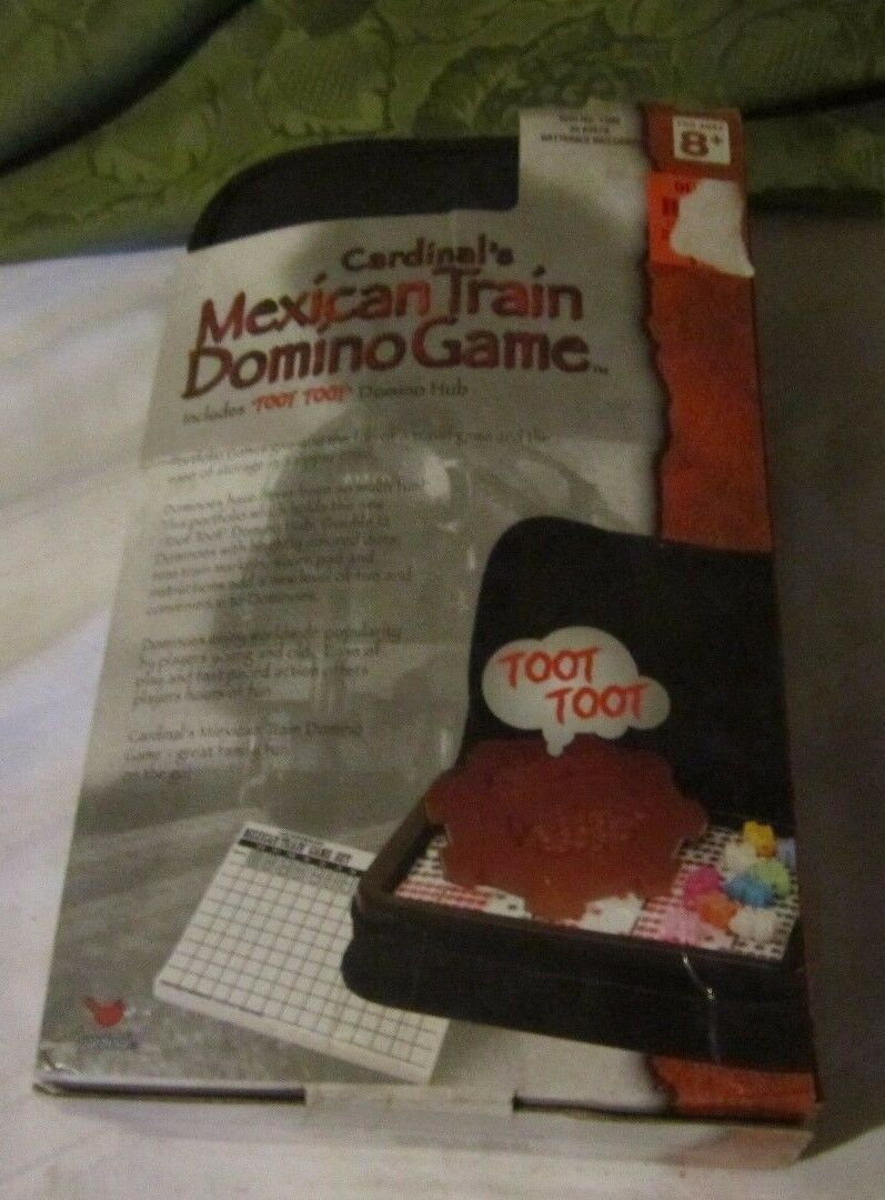 2003 Cardinal's Mexican Train Domino Game with Toot Toot Hub Portfolio Double 12