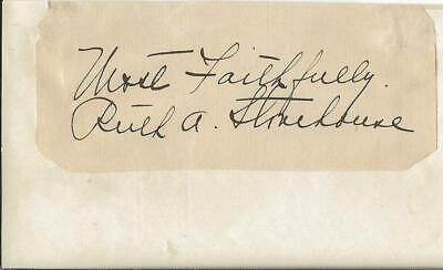 Ruth Stonehouse Signed Vintage 3x5 Index Card Jsa Pleasant To The Palate Autographs-original