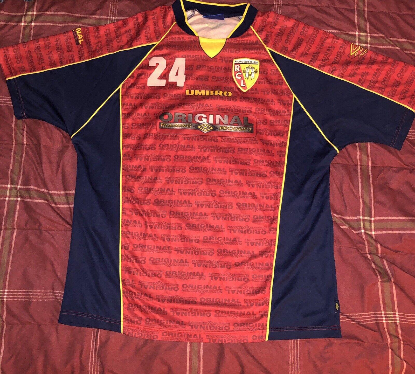 353bbf3a374 Rare Vintage UMBRO Racing Club De Lens Pierre Fanfan Soccer Jersey Mens Size  XXL