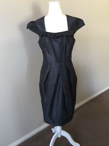 Cue-Black-Short-Dress-Size-10-EUC