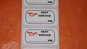 12-x-Oil-change-Hours-MATT-PLASTIC-service-sticker-40-x20mm