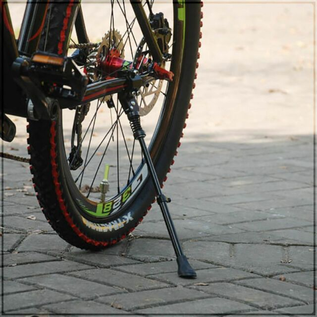 Aluminum Bike Bicycle Cycling Parking Rack Foot Support Side Kick Brace Stand