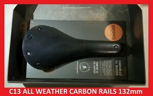 2019 Brooks Cambium C13 CARVED BLACK 145 mm ALL WEATHER CARBON RAILS Saddle Seat