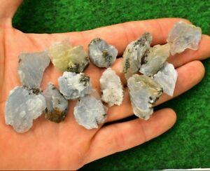 1 Blue Barite Baryte Crystal Mineral Gem 5-10g Natural Palm Stone UK Seller✔