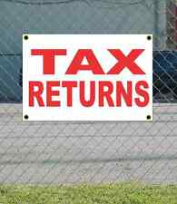 2x3 TAX RETURNS Red & White Banner Sign NEW Discount Size & Price FREE SHIP