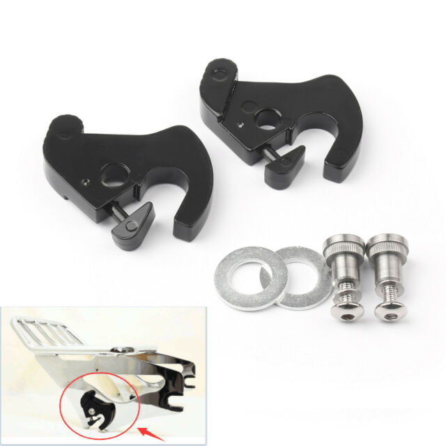 Rotary Latch Latches Kit W/ Serrures Pour Sissy Bar Bagage Rack Softail Touring