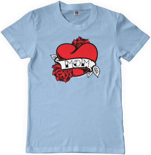 Mom Heart Tattoo Kids Youth T-Shirt Tee Valentine/'s Day Love Mother/'s Day Ink