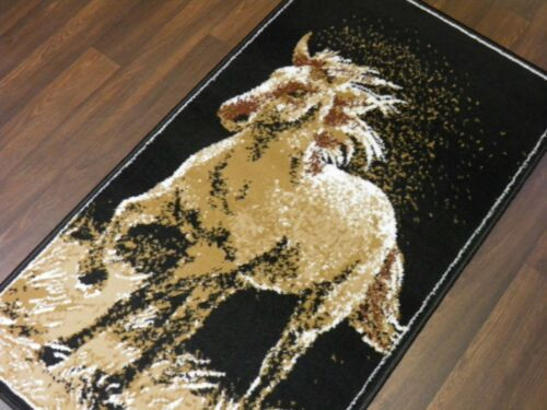 NEW QUALITY MODERN NOVELTY RUGS GALLOPING HORSE DESIGN 60CMX110CM HOME BEDROOM