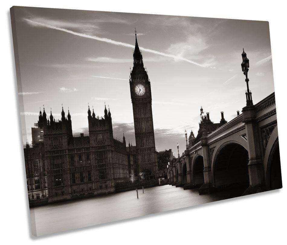 BIG BEN LONDRA B&W City a muro arte unica stampa foto
