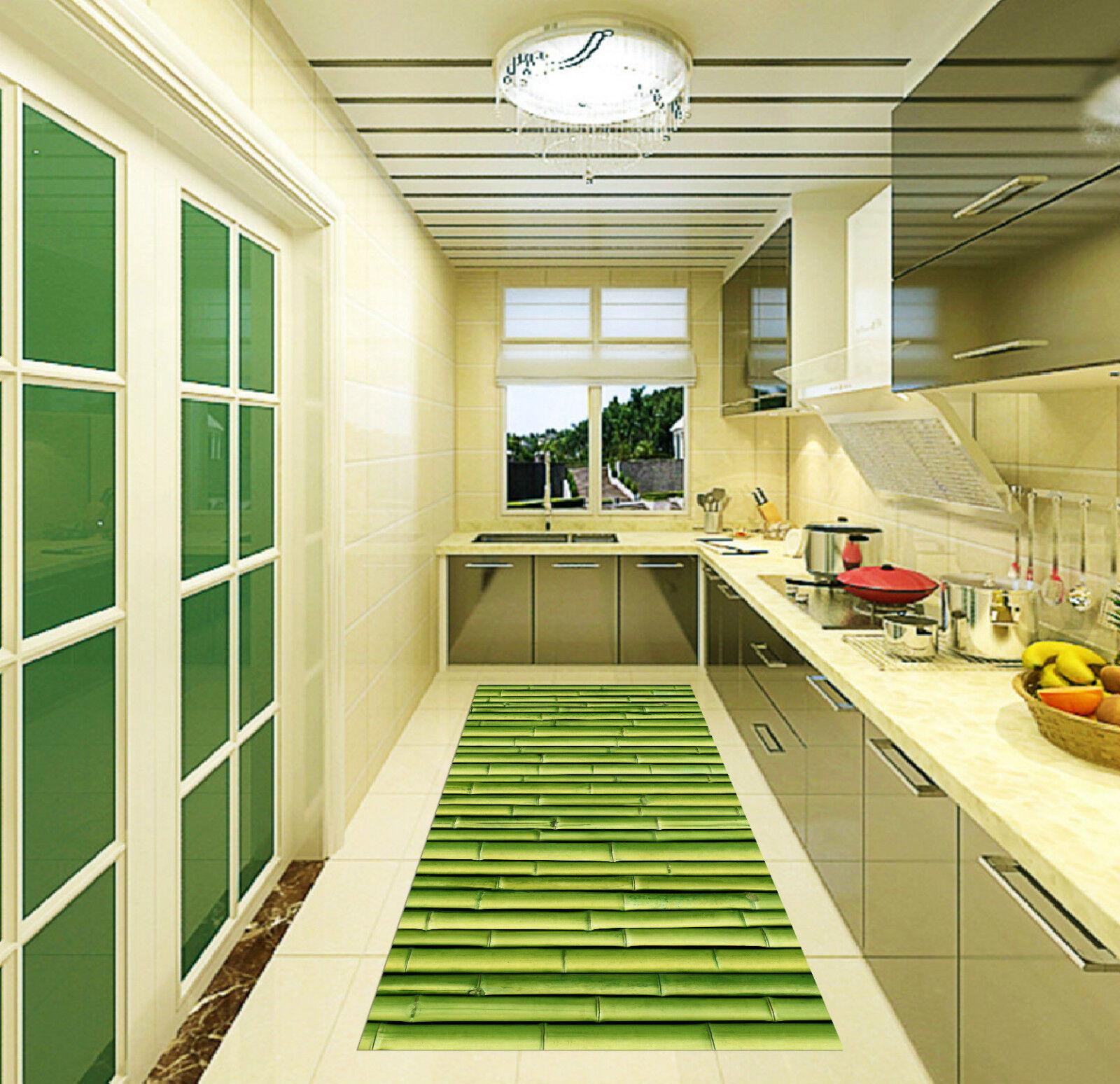 3D Bambou verde Fraîches 105 Décor Mural Murale De Mur De Cuisine AJ WALLPAPER FR