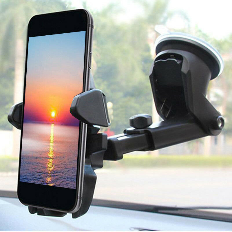 LotFancy Mobile Phone Car Mount Cell Phone Holder Windshield Dashboard Cradle for GPS iPhone XS Max XR 8Plus 8 7 7Plus 6 6Plus 5S 5 5C Samsung Galaxy S8 S7 Edge 6S Smartphones 12C-2314-Z