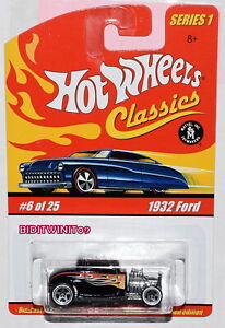 1932 Ford Hot Wheels Classics Series 1 Red 6 of 25 Mattel